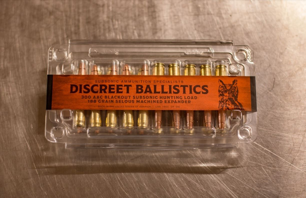 Package of Discreet Ballistics ammo ready for retail.