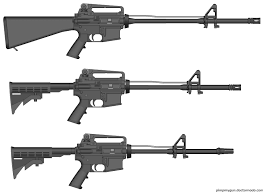 Picture showing the gas systems of rifle, mid-length and carbine gas systems.