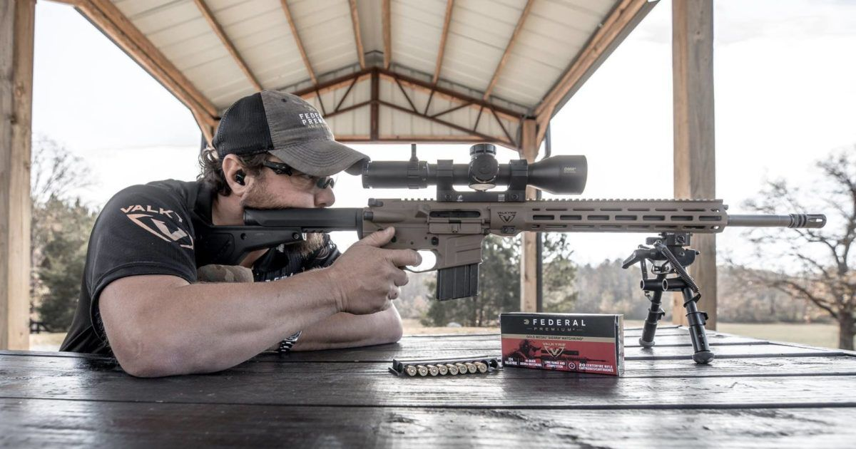 James Gilliland at the range with a 224 Valkyrie