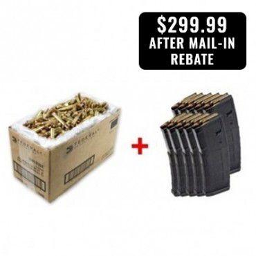 American Eagle 5.56MM FMJBT Ammunition 1000Rds & Ten MAGPUL PMAG 30 Mags
